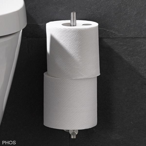 phos edelstahl reserverollenhalter rtph2 260d toilettenpapierhalter wohn und designobjekte. Black Bedroom Furniture Sets. Home Design Ideas