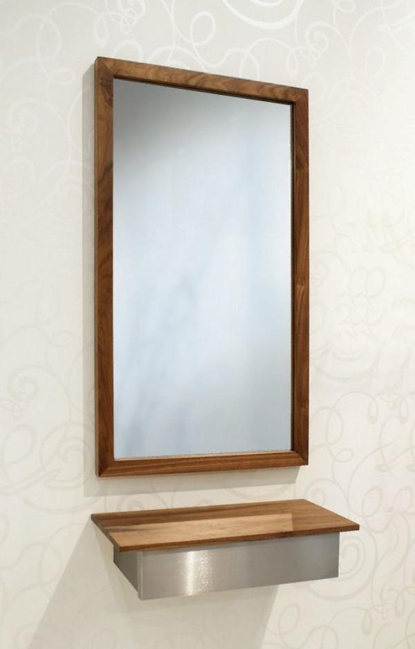 d tec wandspiegel atlantic nussbaum massiv spiegel. Black Bedroom Furniture Sets. Home Design Ideas