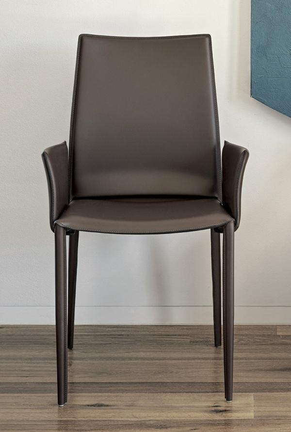 Hohe r cken schwarz leder esszimmer st hle m belideen for 1001 stuhl design