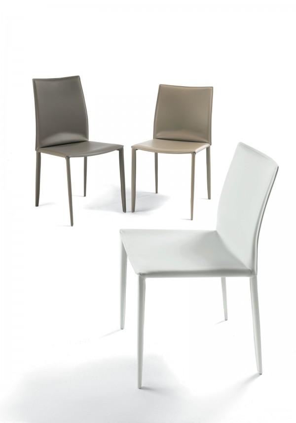 Stuhl Rücken bontempi kernleder stuhl niederer rücken leder und