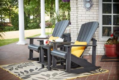 muskoka schaukelstuhl adirondack aus hdpe kunststoff garten cafe st hle st hle bei 1001stuhl. Black Bedroom Furniture Sets. Home Design Ideas