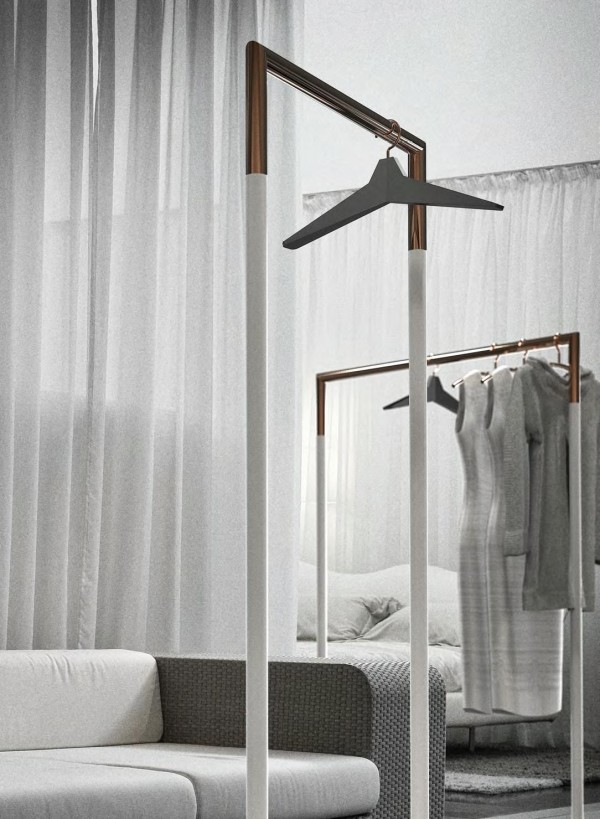 frost garderobenst nder bukto kupfer breite 60 cm standgarderoben garderoben bei 1001stuhl. Black Bedroom Furniture Sets. Home Design Ideas
