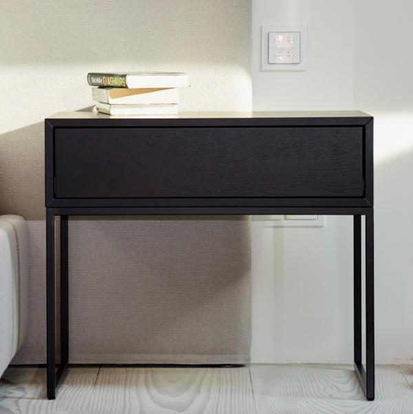 jan kurtz nachttisch beistelltisch dina beistelltische tische bei 1001stuhl. Black Bedroom Furniture Sets. Home Design Ideas