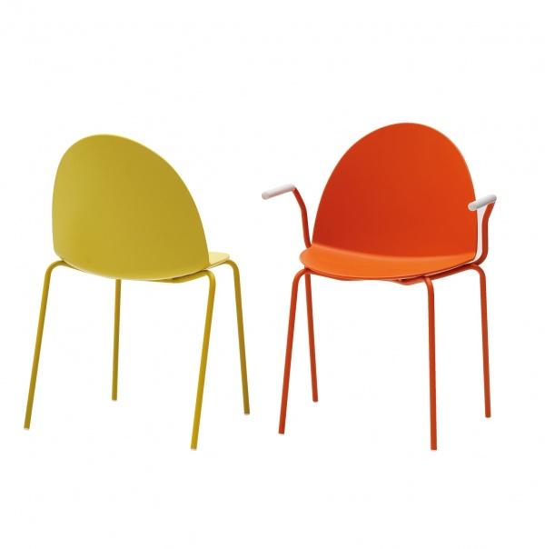 Segis stuhl camel 4 bein gestell metall stapelbar trend for 1001 stuhl design