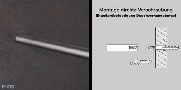 Phos Edelstahl Duschvorhangstange L Form Dse1200