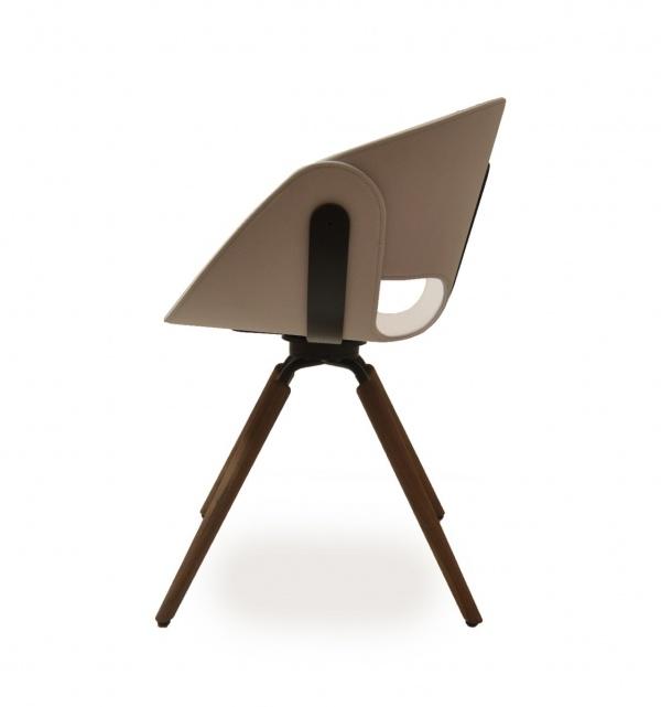 Tonon FL@T 923 Stuhl wooden legs - Trend - Modern - Stühle