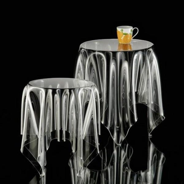 klein more tisch illusion klein beistelltische tische bei 1001stuhl. Black Bedroom Furniture Sets. Home Design Ideas
