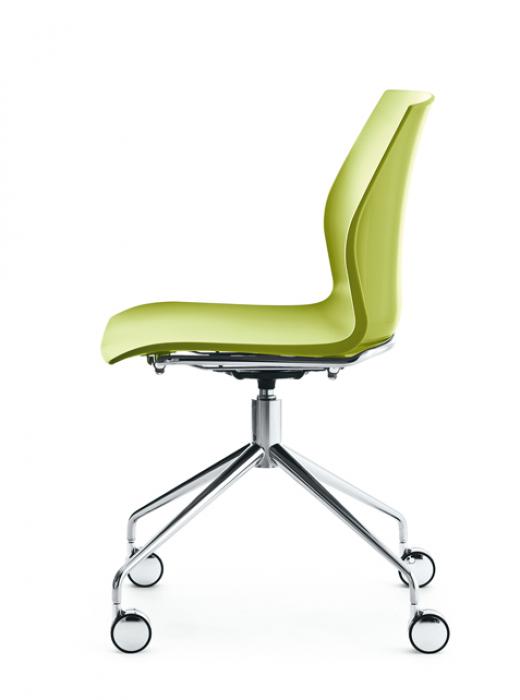 Kastel drehstuhl kalea einfarbig auf rollen drehst hle - Stuhl auf rollen ...