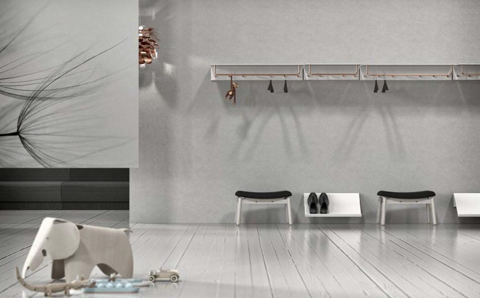 Frost wandgarderobe unu breite 100 cm mit kleiderstange for Garderobenleiste 100 cm