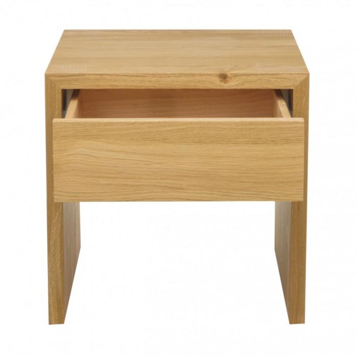jan kurtz beistelltisch cubus eiche mit schublade beistelltische tische beistelltische bei. Black Bedroom Furniture Sets. Home Design Ideas